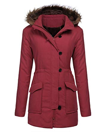 Amazon: Womens Military Hooded Warm Winter Faux Fur Lined Parkas Long Coats for $10.99